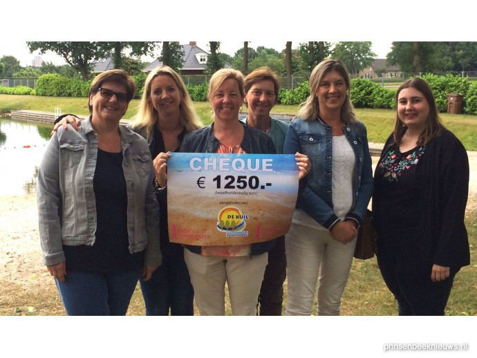 Cheque van Ladies Fair voor De Kuil