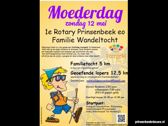 Moederdag Familie Wandeltocht Rotary Prinsenbeeknieuws