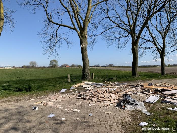Dumping bouwafval Halseweg