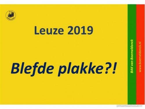 Leuze Boemeldonck 2019: 'Blefde plakke?!'
