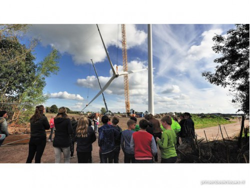 Fietsexcursies naar locaties windmolens