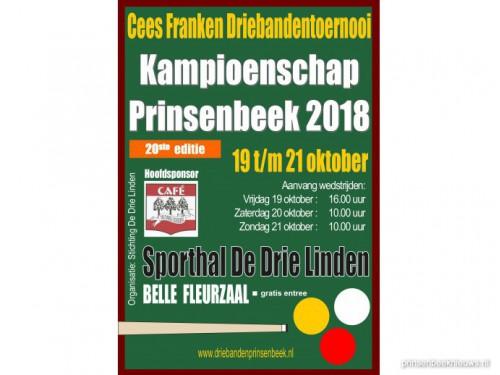 Inschrijven voor driebanden-kampioenschap Prinsenbeek