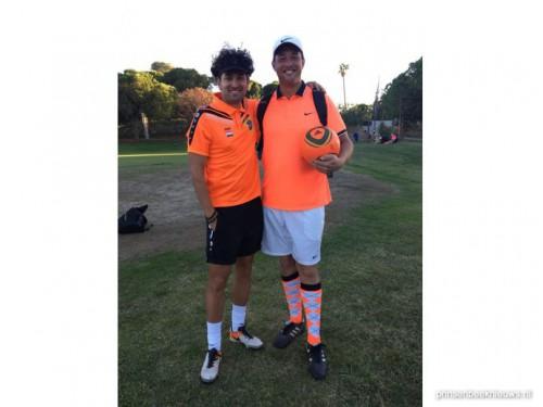 Wesley van den Broek en Pierre van Hooij-donk naar WK Footgolf