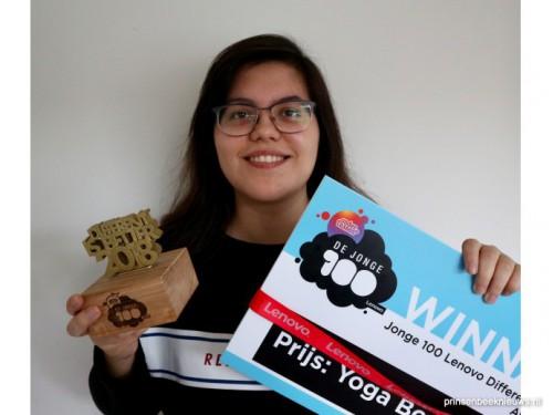Award 'Jonge 100' voor Nikki Pommer