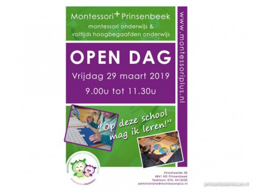 Open dag Montessori+ Prinsenbeek