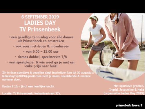 Nog snel aanmelden Ladies Day tennis
