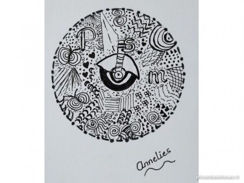 Mandela tekeningen in pop-up galerie