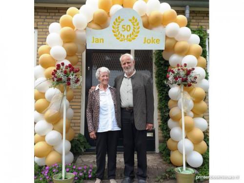 Jan en Joke Aarts 50 jaar getrouwd