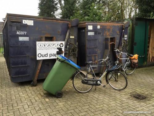 Oud-papiercontainers niet bereikbaar