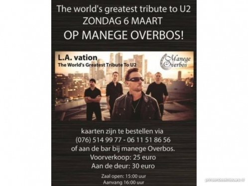 Tribute to U2 in Manege Overbos